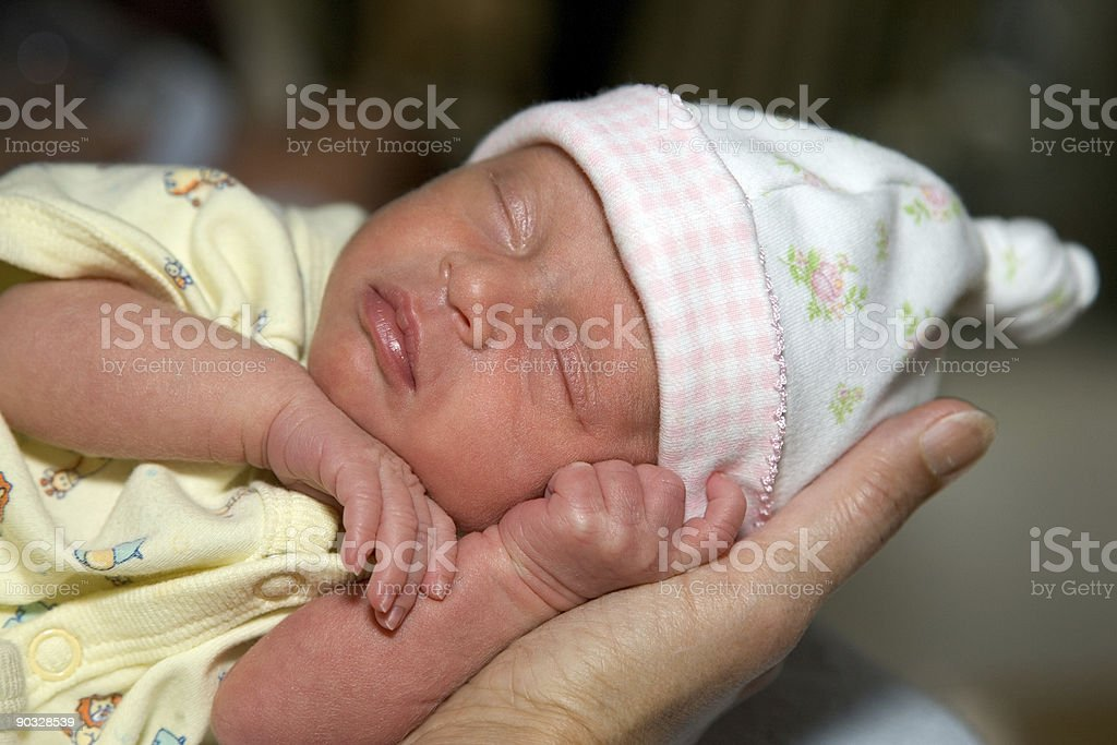 People - Baby Sierra in Hand stock photo