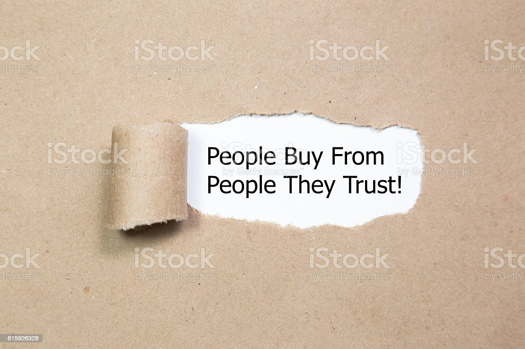 People Buy From People They Trus stock photo