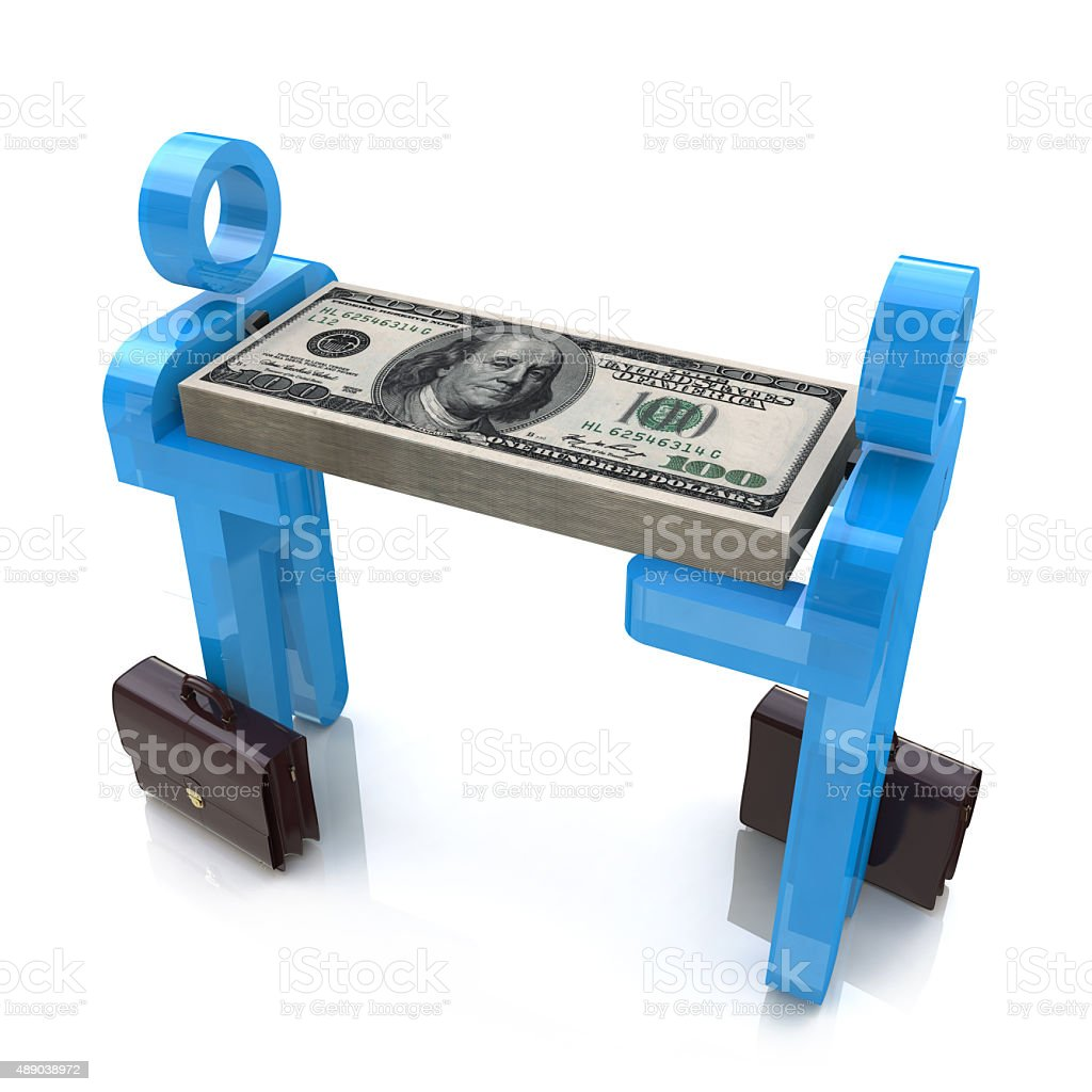 People carry money stock photo