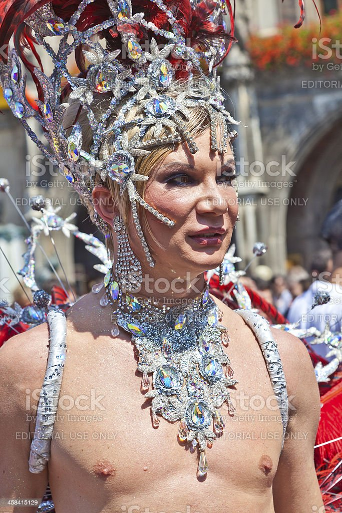 people celebrate the Christopher Street Day in Munich royalty-free stock photo