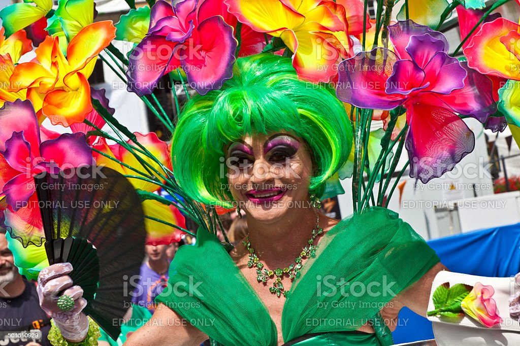 people celebrate the Christopher Street Day in Munich stock photo