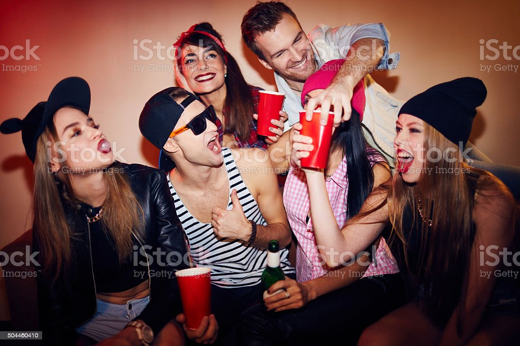 People celebrating stock photo