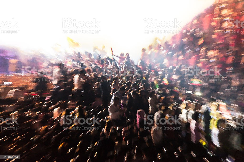 People chaotic in concert abstract background blur motion stock photo