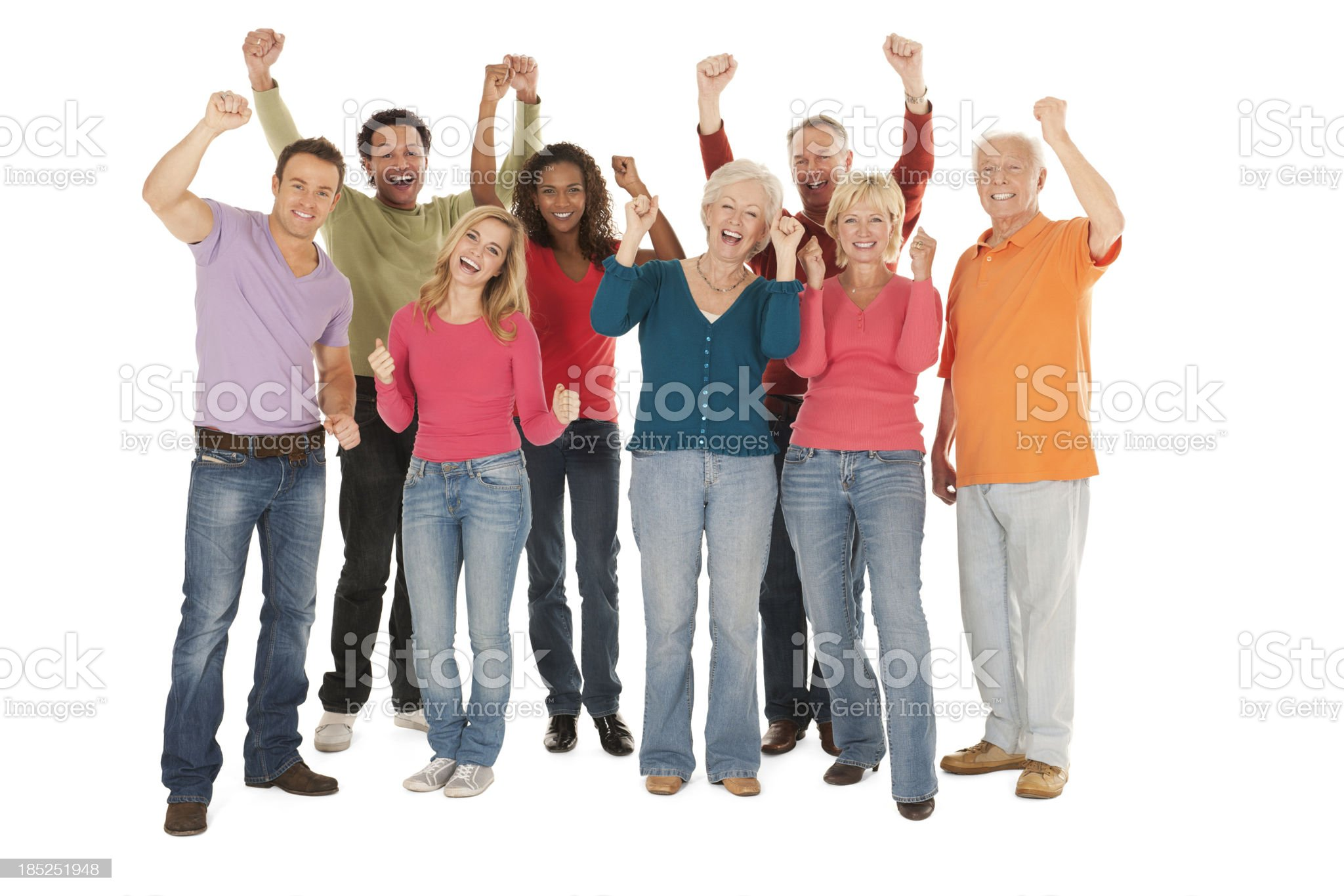 People Cheering royalty-free stock photo