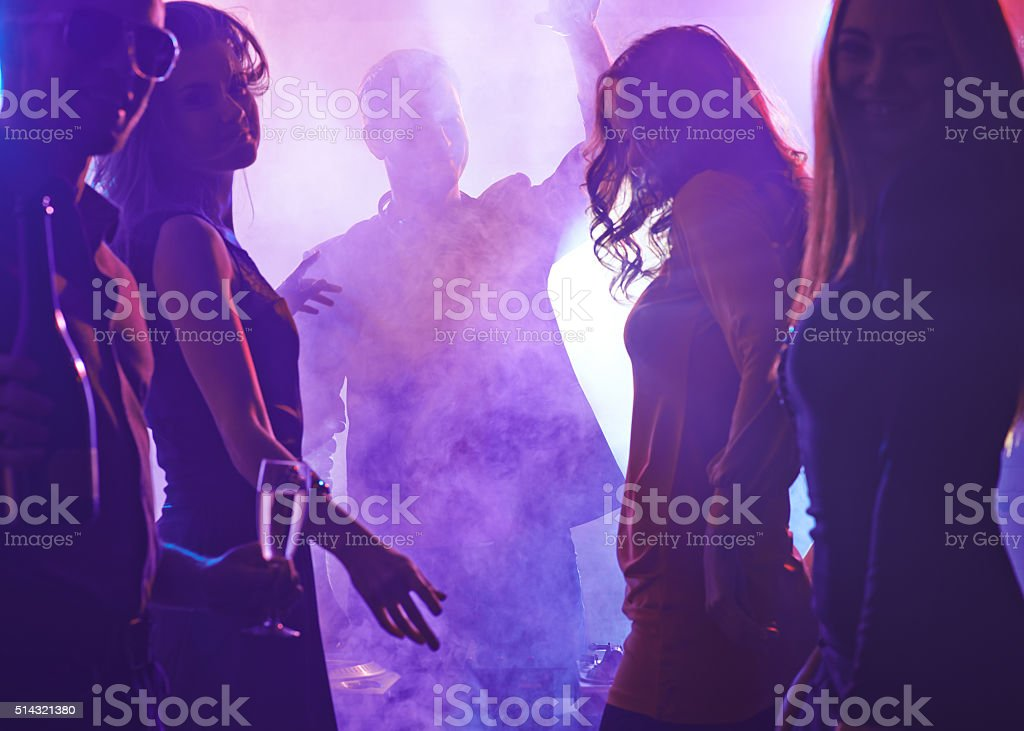 People clubbing stock photo