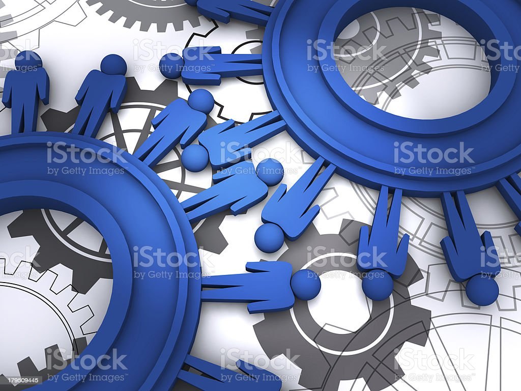 people cogs stock photo
