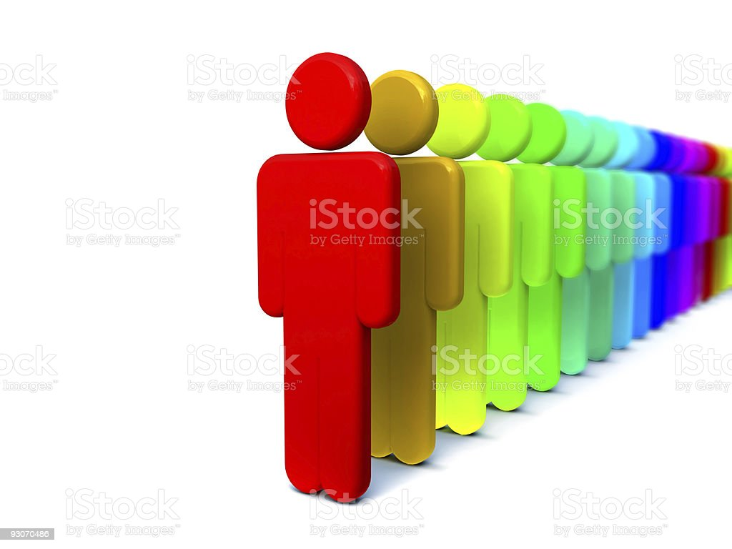 People community(XXL) royalty-free stock photo