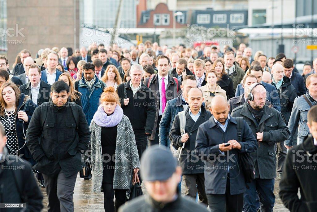 People Commuting stock photo