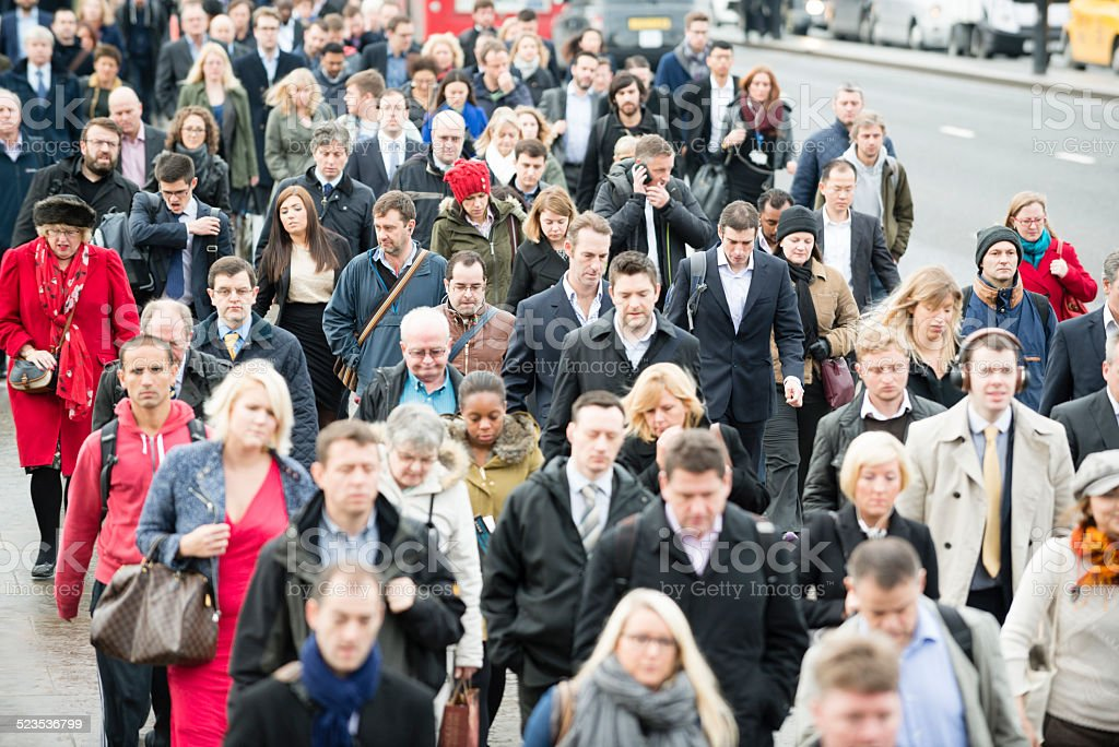 People Commuting stock photo