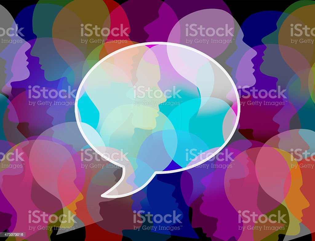 People Crowd Symbol stock photo