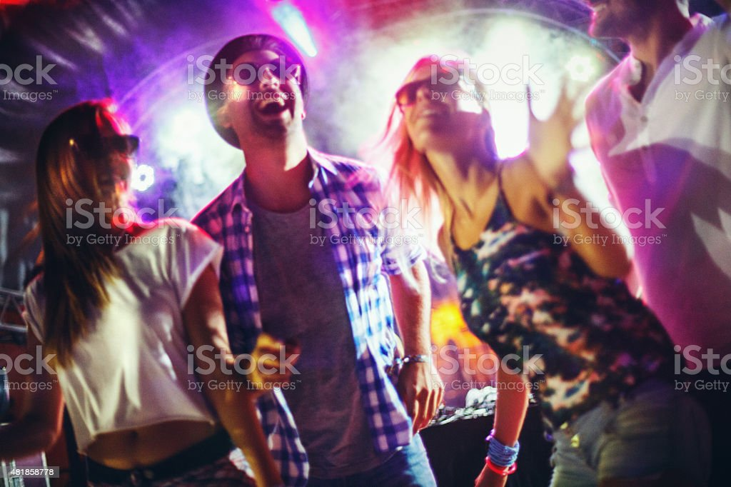 People dancing at a party. stock photo