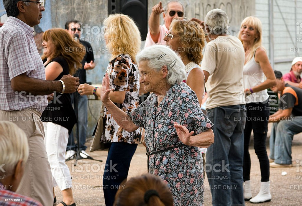 People dancing 'cumbia' stock photo