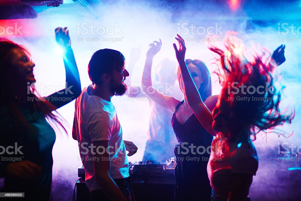 People dancing stock photo