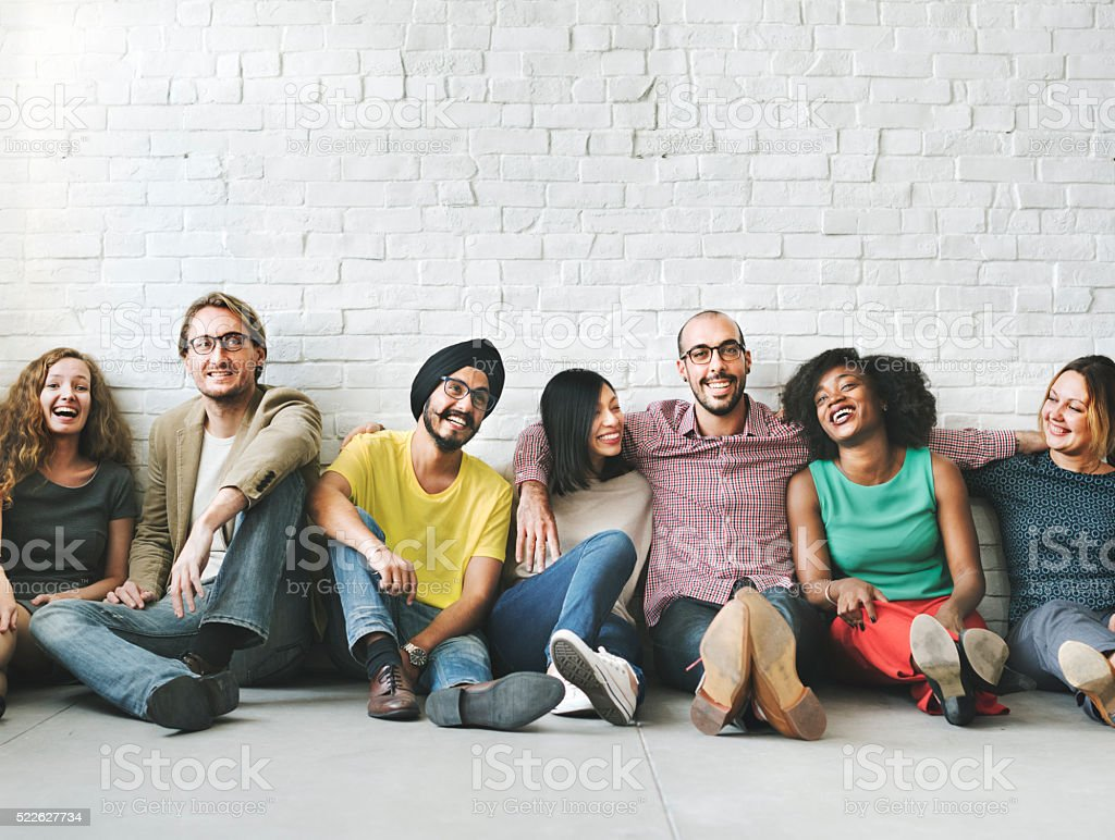 People Diversity Friends Friendship Happiness Concept stock photo