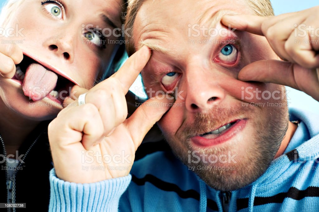 People doing funny faces royalty-free stock photo