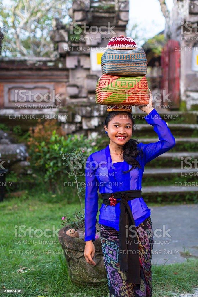 People during the celebration before Nyepi stock photo