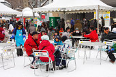 People eating during the Sapporo Snow Festival