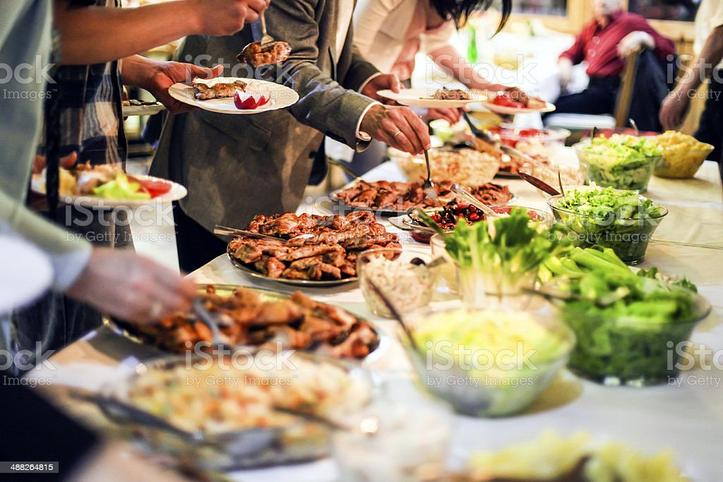 People eating stock photo