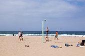 people enjoy playing Volleyball at Redondo Beach