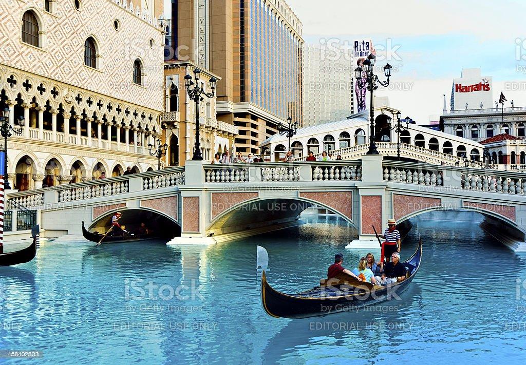 people enjoy the Venetian Resort Hotel & Casino royalty-free stock photo