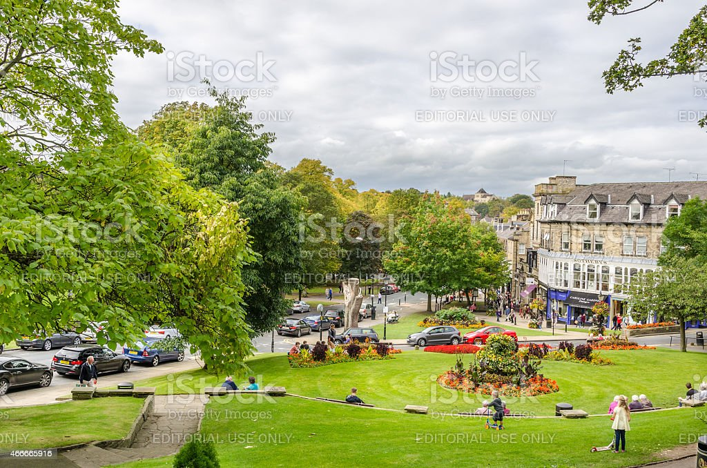 People enjoying a Warm Autumn Day Outdoor stock photo