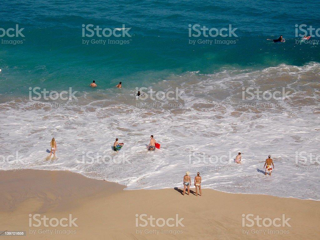 People Enjoying Beach royalty-free stock photo