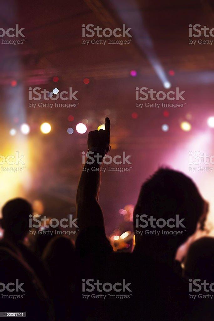 People enjoying on concert royalty-free stock photo