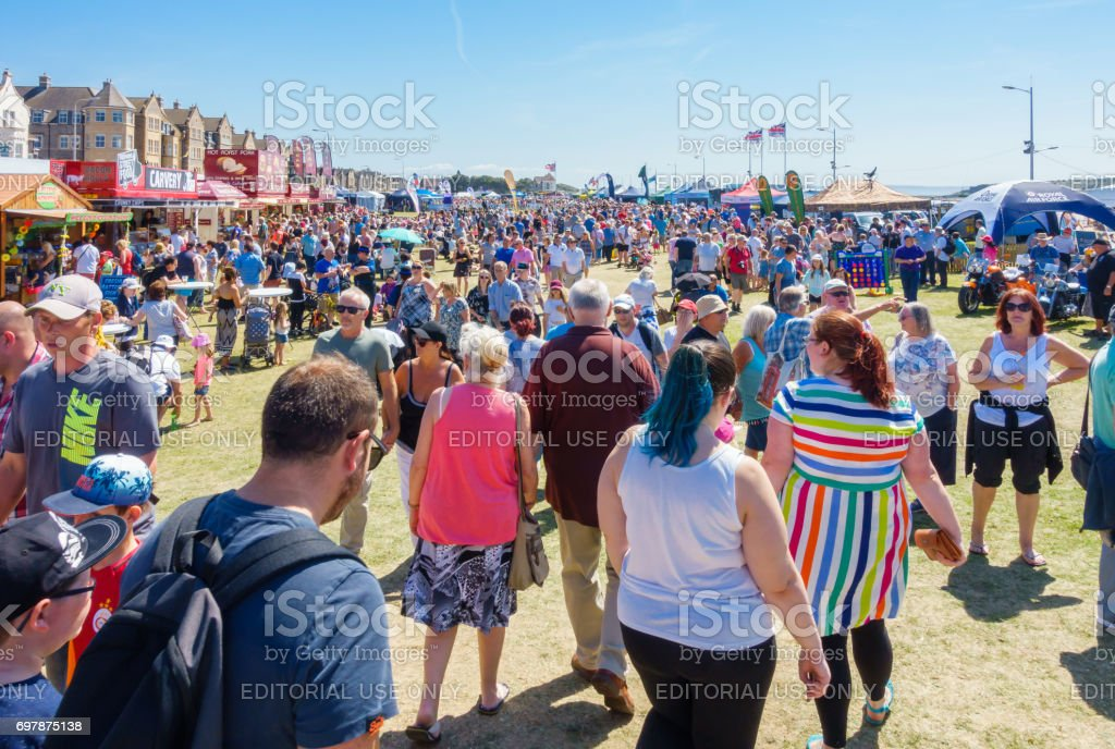 People enjoying the Airshow Weston-super-Mare 2017 stock photo