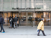 People entering MoMA New York City
