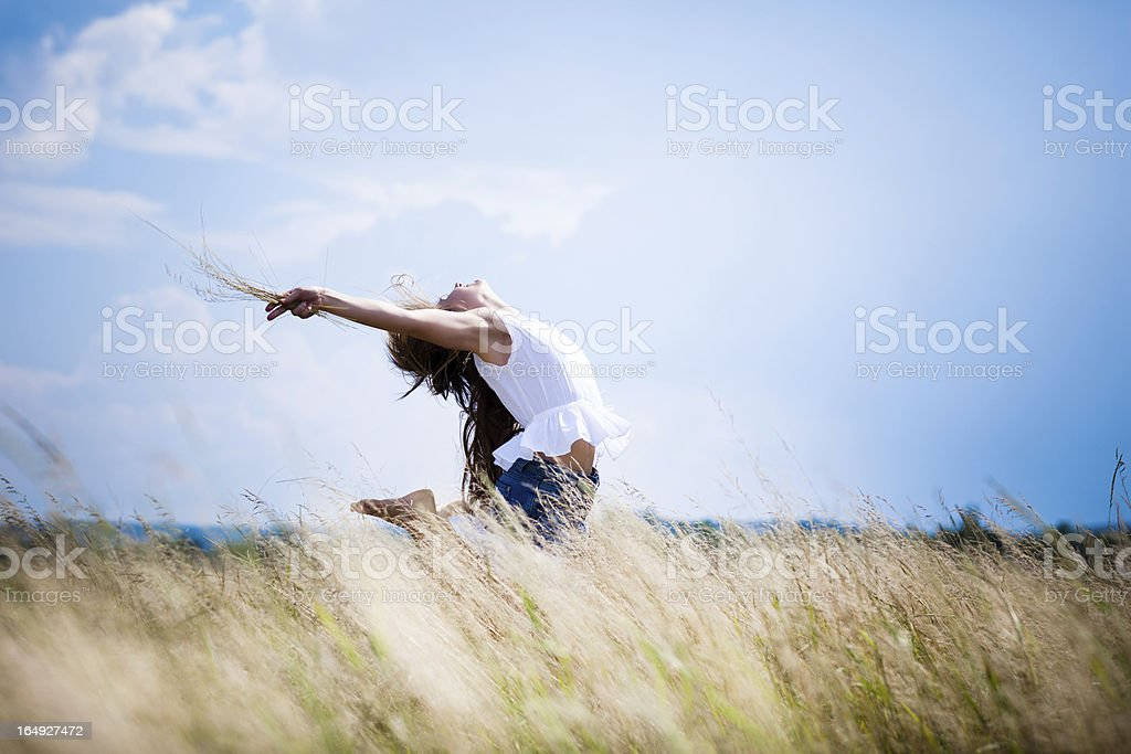 People fly royalty-free stock photo