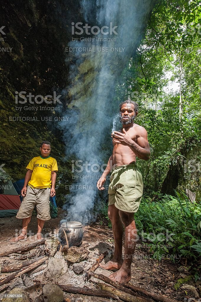 People from a tribe of Jafi stock photo