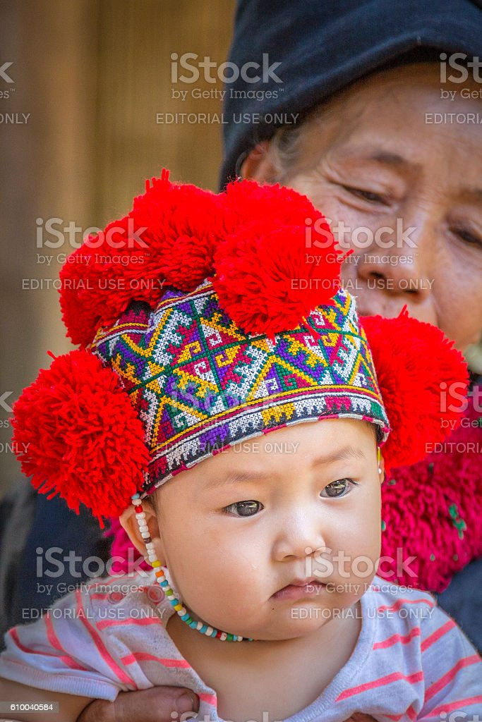 People from Karen Tribe in Thailand stock photo