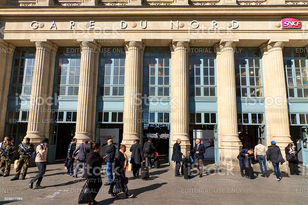 People Gare du Nord stock photo