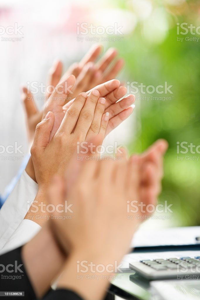 People giving applause royalty-free stock photo