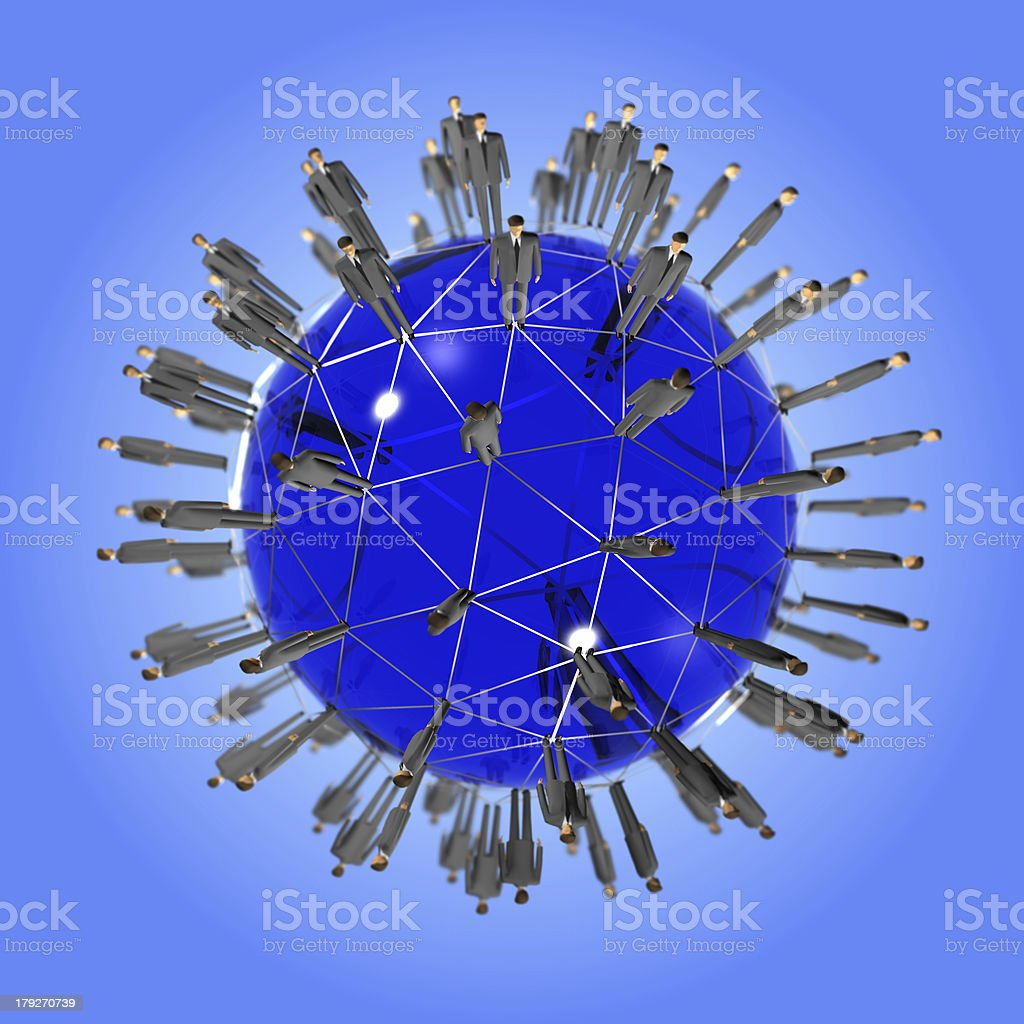 people global network royalty-free stock photo
