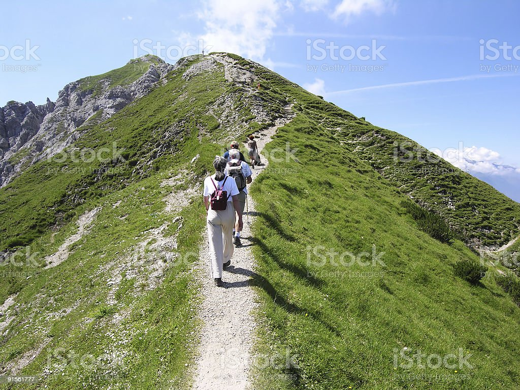 People Going to the Top royalty-free stock photo