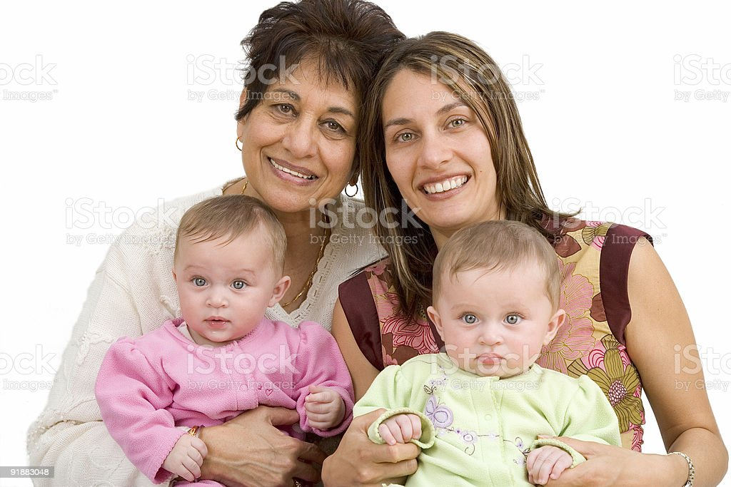 People - GrandMother, Mother, and Daughters royalty-free stock photo