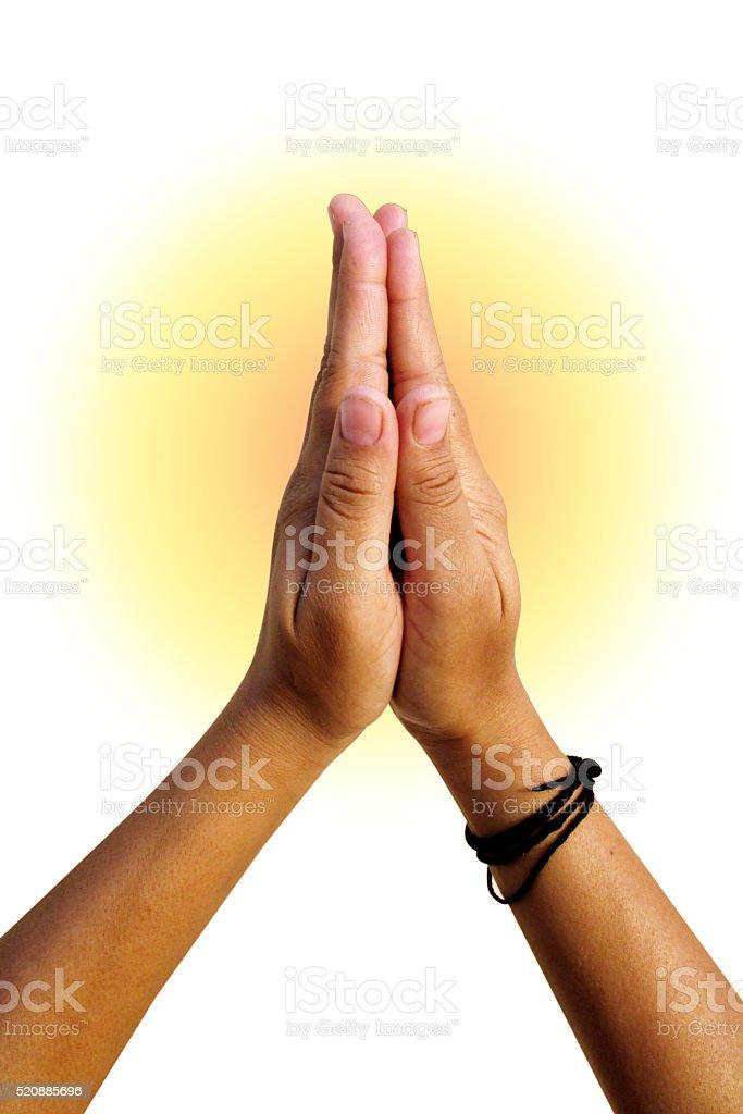 people Hand praying stock photo