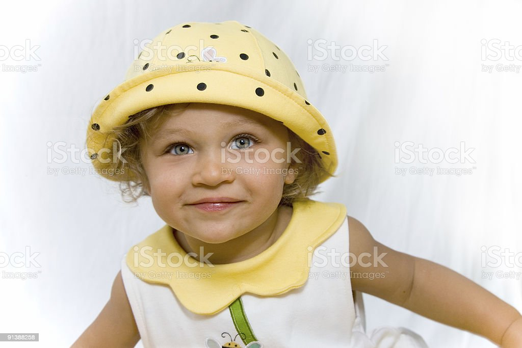 People - Happy Toddler in a Bee Outfit stock photo