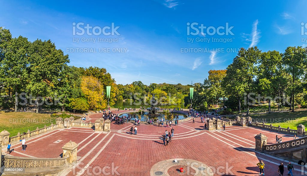 People have rest in Central Park in New Yor stock photo