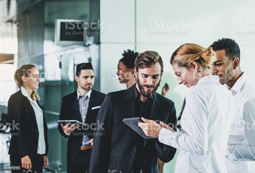 People Having a Business Meeting stock photo
