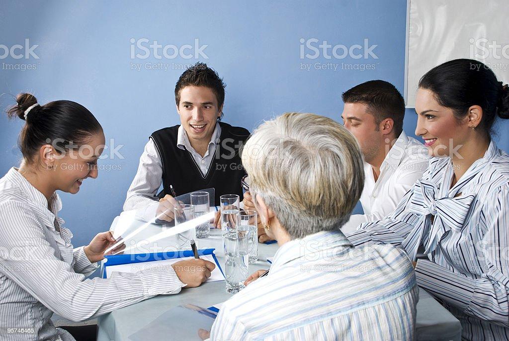 People having fun at business meeting royalty-free stock photo