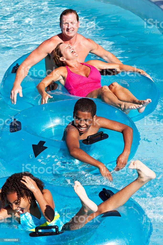 People having fun at water park royalty-free stock photo