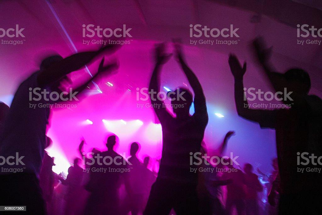 People having fun in a disco stock photo