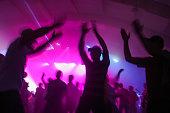 People having fun in a disco