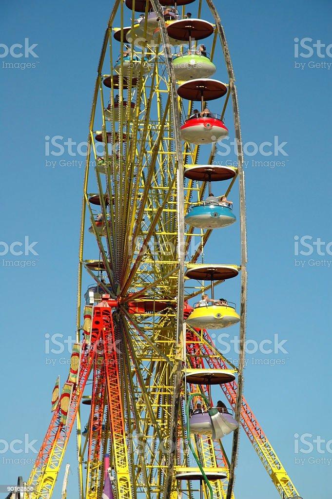 People having fun on a Ferris Wheel royalty-free stock photo