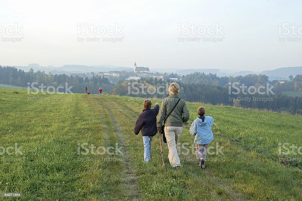 People Hiking royalty-free stock photo