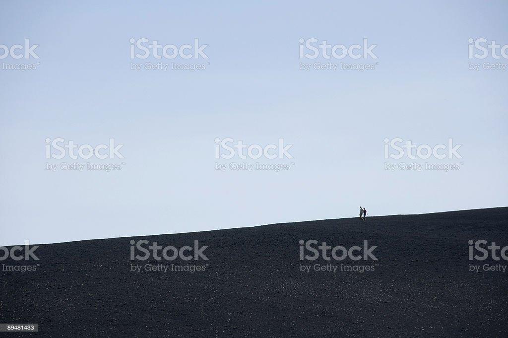 People Hiking Ridgeline royalty-free stock photo