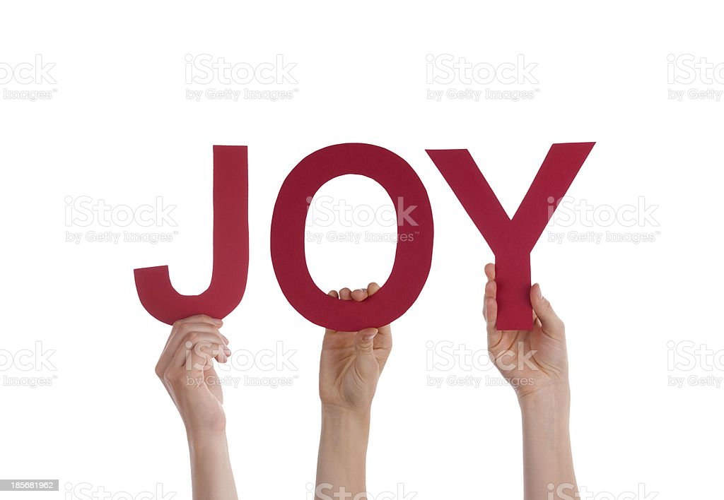 People Holding a Red Joy royalty-free stock photo