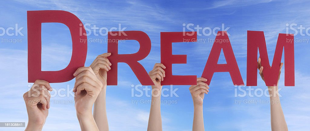 People Holding Dream royalty-free stock photo